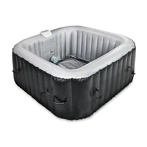 AQUAPARX Whirlpool AP-600SPA *rechteckig* 155x155x65 cm Pool Wellness Massage Spa Whirlpoolzubehör Badewanne Wanne Indoor Outdoor Heizung aufblasbar