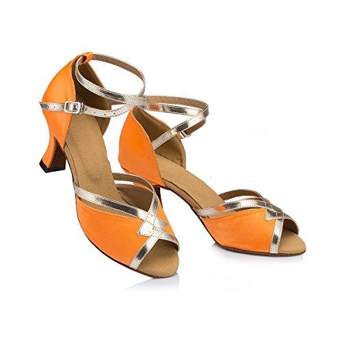 Arancione Centimetri Tacco Donna Miyoopark 7 Sala Da Ballo 608IRUq