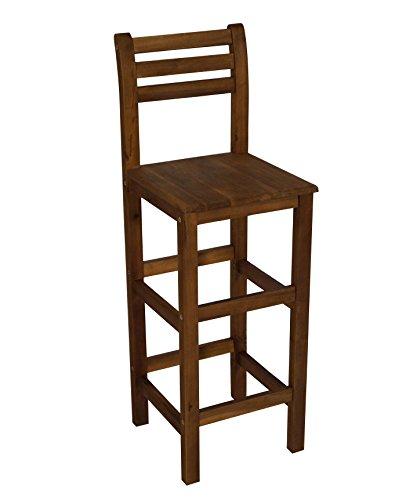 Barstuhl aus Akazienholz geölt, Sitzhöhe 77cm, für Innen und Außen, FSC®-zertifiziert