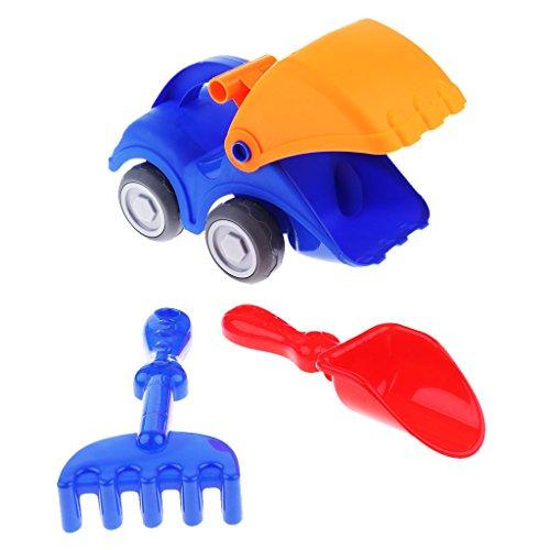 Phenovo Kids Dig Sand Rake Spade Shovel Kettle Foot Toys Children Beach Toys Set - 3Pcs Shovel car Set