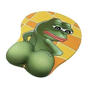 MWXXMauspad Sad Frog Butt 3d Mauspad Ergonomische Mausunterlage mit Armband Anime 3d Mauspad Laptop Office