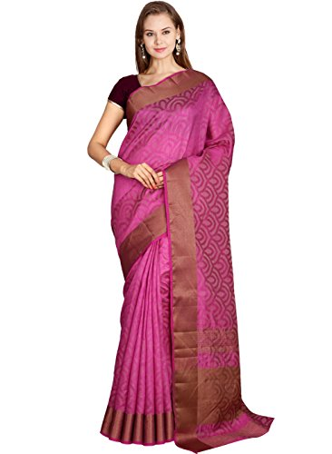 The Chennai Silks - Jute Cotton Saree - Magenta Pink - (CCOPFA8755)