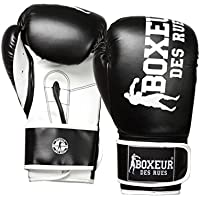 BOXEUR DES RUES Serie Fight Activewear Guantoni Da Boxe, Unisex – Adulto, Nero, 10OZ
