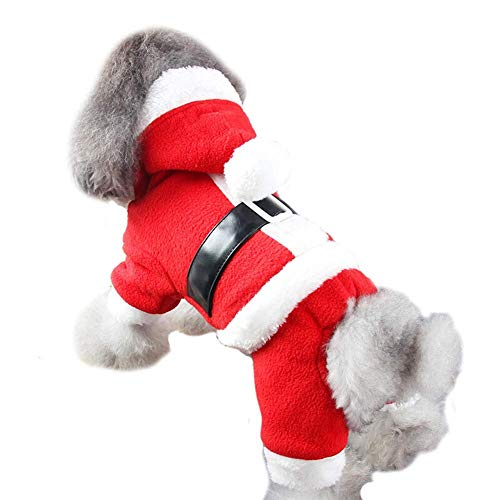 Pet Dog Cat Clothes Fancy Puppy Christmas Outfit Dress Costume (Color : Boy, Size : S)