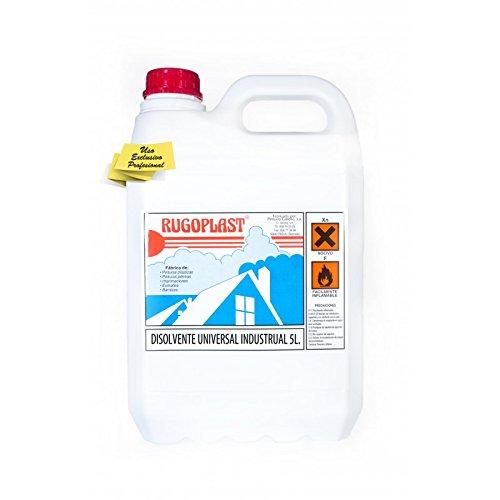 Disolvente universal industrial económico diluyente para pinturas y barnices en general, limpieza de utensilios (5L) Envío GRATIS 24 h.