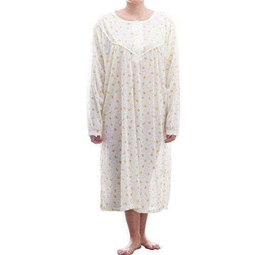 lucky-chemise-de-nuit-a-manches-longues-avec-imprime-dans-de-grandes-tailles-3xl-homme-beige-xxx-lar