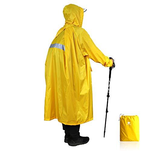 Anyoo Unisex Rain Coat Senderismo Impermeable Empaquetado