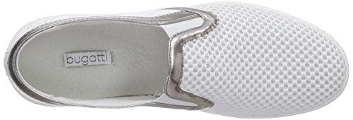 Bugatti - J76686n6, Scarpe da ginnastica Donna Bianco (Weiß (weiss/silber 207))