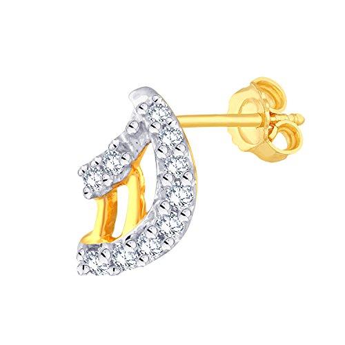 Giantti 14carats Diamant pour femme Dangler Boucles d'oreilles (0.1934CT, VS/Si-clarity, Gh-colour)