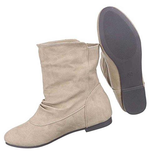 Damen Stiefeletten Schuhe Leicht Gefütterte Boots Schwarz