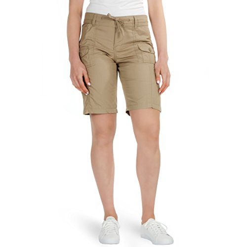 Ladies Now High Waisted Lightweight Cargo Shorts (14)