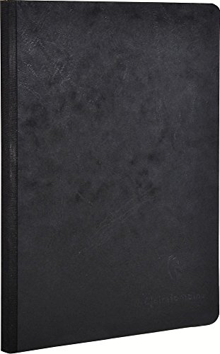 Clairefontaine 532456 - Cuaderno liso, A5, color negro