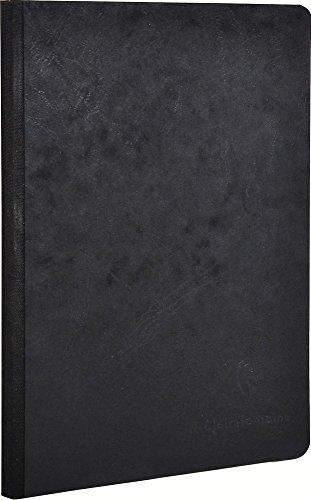 Clairefontaine 795401C Heft A5, Leinen, Age Bag, blanko, 96 Blatt, schwarz -