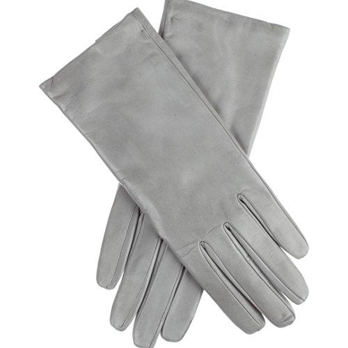 Lundorf Linea – Leder Damen Handschuh – mit Kaschmirfutter. Aus Lammleder in bunter Farbenvielfalt - Grau - 8,5 - X-Large (Leder-blazer Geschmeidiges)