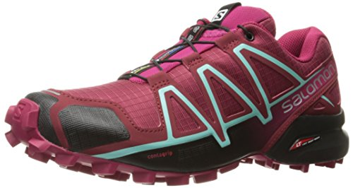 Salomon Damen Speedcross 4' Traillaufschuhe, Tibetan Red/Sangria/Black, 38 EU