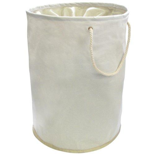 Panier à Linge Pliant Couleur Crème Avec Poignées 35cm x 48cm