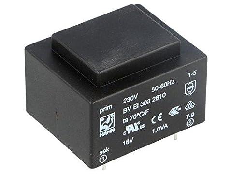BVEI3022810 Transformer encapsulated 1VA 230VAC 18V 56mA Mounting PCB HAHN