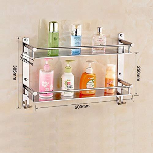 Mensole bagno wc, rack in acciaio inox 33-tier asciugamano cosmetici ripiano parete bagno