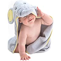 Little Tinkers World Serviette à capuchon pour bébé éléphant - 100% coton bébé serviette de bain - parfait cadeau fête d'anniversaire - les nouveau-nés ou les nourrissons filles et garçons