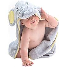Little Tinkers World Asciugamano Elefante per Bambini EXTRA SOFFICE -