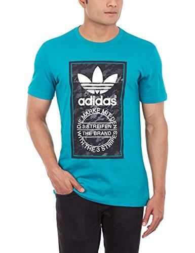 adidas Herren T-Shirt Camo Tongue Label, EQT Green S16, S, AJ7148
