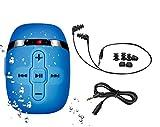 8GB Schwimmen mp3 Spieler mit kurzen Schnur Kopfhörer (3 Typ Swimbuds), ein weiteres Audio-Verlängerungskabel für Art von Sport, Shuffle-Feature-Schwarz