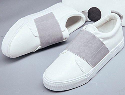 Minetom Donne Scarpe Donna Bassi Scarpe Sportive Mocassino Casuale Calzature Moda Scarpa Da Ginnastica Grigio