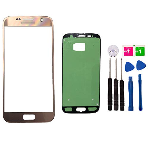 Original - Ersatz Front Außen Top Glas Lens Cover Screen für Samsung Galaxy S7 SM-G930 Handy Parts with Adhesive Tools Kit (NO LCD and Touch Digitizer), Rose Lcd-touch Screen Kit