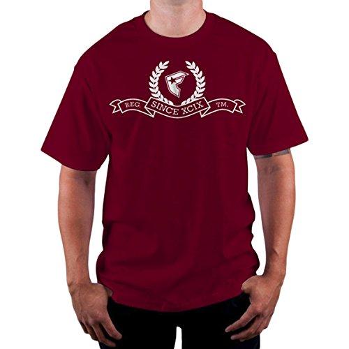 Famous Stars and Straps - Herren Da XCIX T-Shirt burgunderfarben
