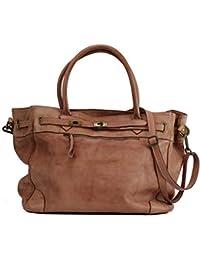d683a6a66dc40 BZNA Bag Mila Rosa rose vintage Italy Designer Business Damen Handtasche  Ledertasche Schultertasche Tasche Leder Shopper