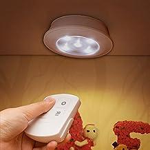 horevo LED Luz nocturna funciona con pilas con cargarse Wireless–Mando a distancia Lámpara de pared Luminaria ampulle para perchero Noche Mesa Lámpara decorativa Gabinete iluminación