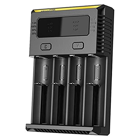 Nitecore Intellicharge I4 V2 Universal 4 Channel Li-Ion/Ni-Cd/Ni-Mh Smart Charger