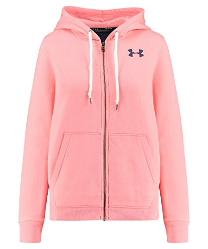Under Armour Damen Favorite Fleece Full Zip Jacke Small Cape Coral Light Hea/Midnight Navy (Frauen Under Up Zip Für Armour)