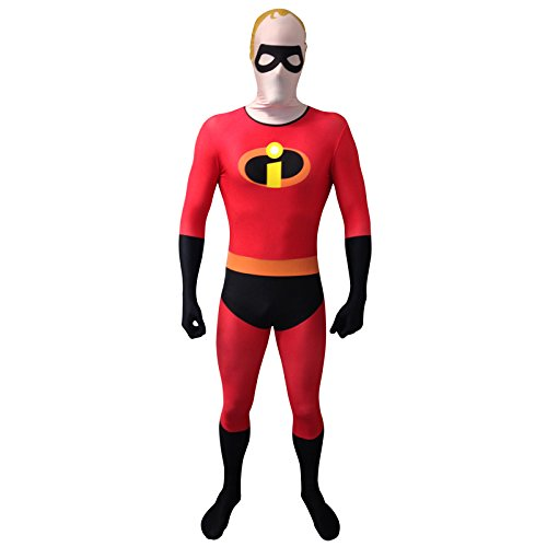ixar MR Incredible Unisex Erwachsene Cosplay Kostüm (X-Large, Rot) (Spiderman Spandex-halloween-kostüm)