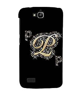 Fuson Designer Back Case Cover for Huawei Honor Holly (A Diamond Alphabet P Theme)