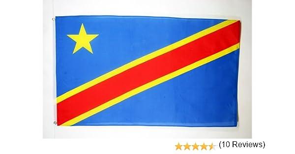 Drapeau congolais 60 x 90 cm Drapeaux AZ FLAG Drapeau R/épublique D/émocratique du Congo 90x60cm