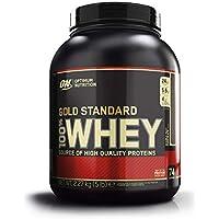 Optimum Nutrition ON Gold Standard Whey Protein Pulver, Eiweißpulver zum Muskelaufbau, natürlich enthaltene BCAA und Glutamin, Double Rich Chocolate, 73 Portionen, 2,26kg, Verpackung kann Variieren