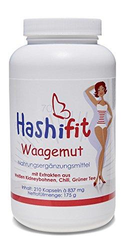 Hashifit® Waagemut stoffwechselanregende Vitamine, Mineralien, Pflanzenstoffe als Muntermacher, Energielieferant und Abnehmhelfer -