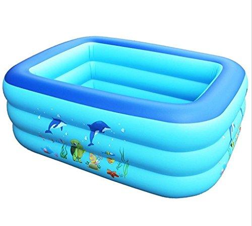 HCJCQYG GUORONG Aufblasbare Badewanne, Verdickung Baby aufgeblasen Square Play Pool Kunststoff Zusammenklappbar Bad Kunststoff-Faltbad Dick Warm Badewanne (Farbe : #1)