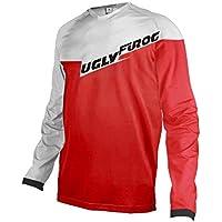 Uglyfrog Jersey Colour Blanco y Negro Camiseta MX DH Caza Enduro Quad, Racewear Motocross Enduro