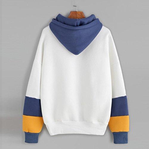 Pull Femmes Angelof Sweat-Shirt Femme Manches Longues Cactus Imprimer Sweat à Capuche Pull Capuche Tops Blouse Bleu