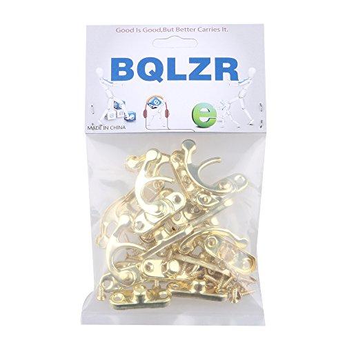 BQLZR Gelb Antike Vintage 2.8x3.2cm Vorhängeschloss Haken Horns Jewelry Box Schließe Packung mit 8