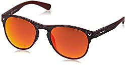 Police Polarized Wayfarer Unisex Sunglasses (S1949M53NKJRSG|53|Brown with Red Mirror lens)