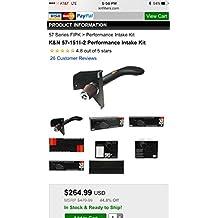 K&N Performance Cold Air Intake Kit 57-1511-2 with Lifetime Filter for 1994-2002 Dodge Ram 1500/2500 5.9L V8 by K&N