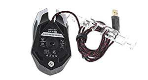 LUOM G6 800/1200/1600/2400 DPI Adjutable USB Wired Optical Gaming Mouse - G6, Black