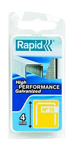 Rapid, 40109518, Agrafes en fil fin N°13, Longueur 4mm, 1650 pièces, Pour le textile et la décoration, Fil galvanisé, Haute performance