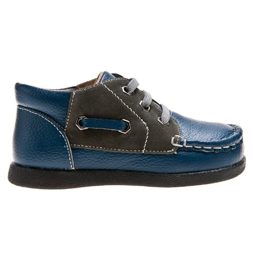 Little blue lamb toddler chaussures basses en cuir bleu Bleu