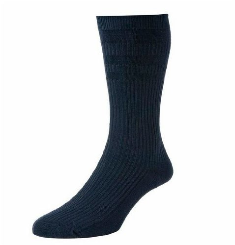 2 Pairs Men's H J Hall Soft Top Non-Elastic Cotton Rich Socks Big Foot Size 11-15 in Colours