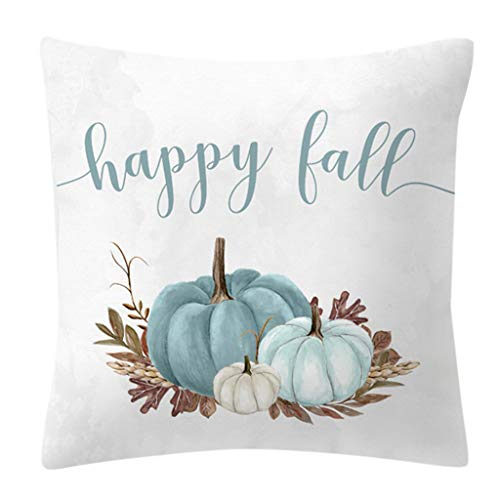 Scdincier Herbst Dekorationen Aquarell Kürbis Gedruckt Taille Dekokissen Fall, Pfirsich Samt Kissenbezug Für Halloween Thanksgiving Day