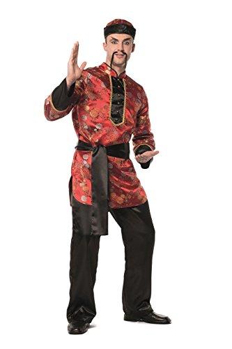 TH-MP Chinesenkostüm Chinesinkleid Damenkostüm Herrenkostüm Mandarin Verkleidung Fasching Karnveal (Chinese Herrenkostüm, 56)